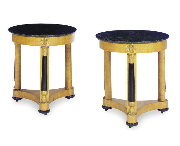 A PAIR OF GILT-METAL MOUNTED,