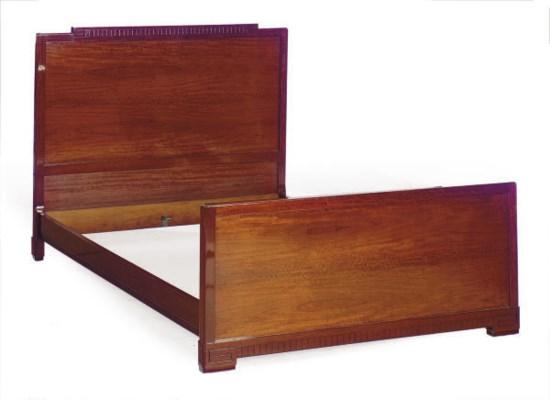 A MAHOGANY BED,