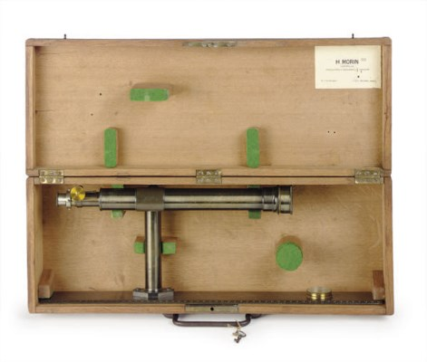 A FRENCH CASED SURVEYING LEVEL