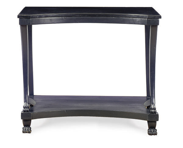 AN EBONIZED AND SLATE-TOP SIDE