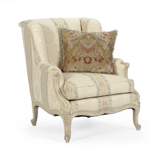 A CREAM-PAINTED AND UPHOLSTERE