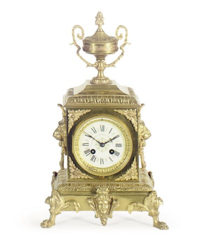 A FRENCH ORMOLU MANTLECLOCK,