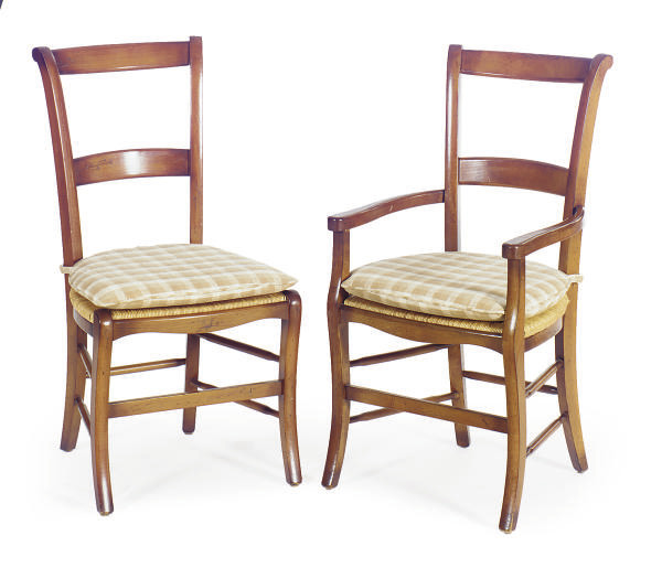 A SET OF EIGHT FRUITWOOD AND R