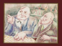 Men in a bar; and a companion piece