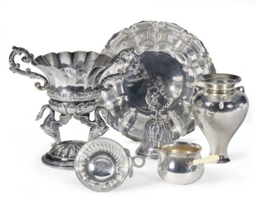 A GROUP OF ENGLISH SILVER, AME