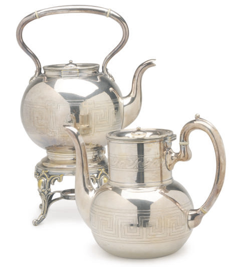 AN AMERICAN SILVER-PLATED SIX-