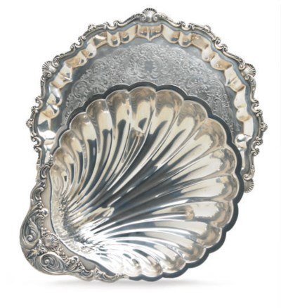 A GROUP OF FOUR SILVER-PLATED