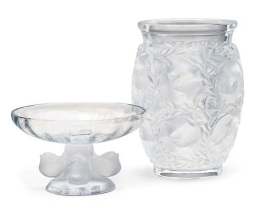 A FRENCH GLASS 'BAGATELLE' VAS