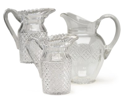 A PAIR OF ANGLO-IRISH CUT GLAS