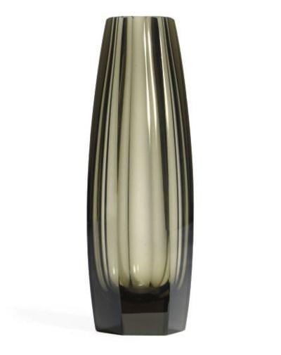 AN AUSTRIAN GLASS VASE,