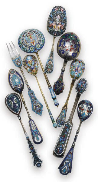 A GROUP OF RUSSIAN SILVER CLOI