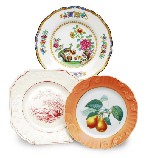 TWO ENGLISH PORCELAIN SETS OF