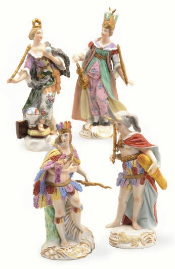 A SET OF FOUR GERMAN FIGURES E