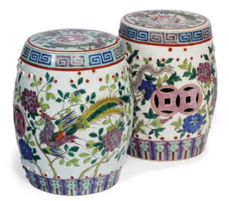 A PAIR OF SMALL CHINESE PORCEL