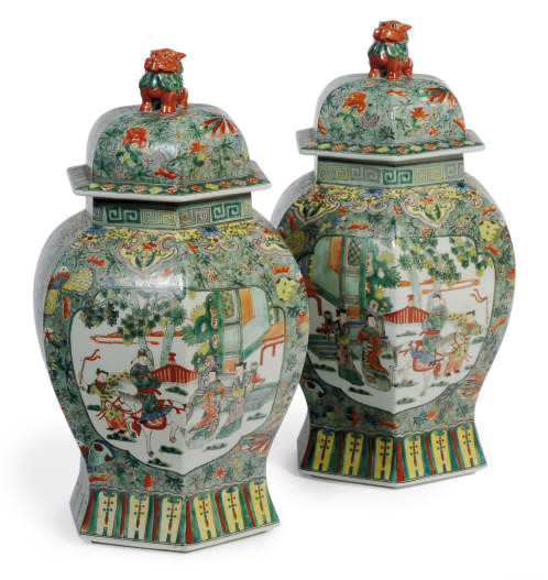 A PAIR OF CHINESE PORCELAIN HE