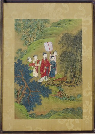 FIVE CHINESE PAINTINGS ON SILK
