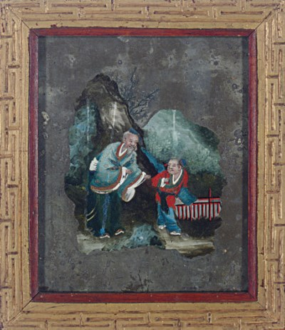 TWO CHINESE REVERSE PAINTINGS