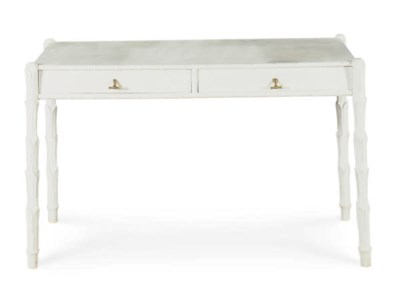 A WHITE-PAINTED DESK,