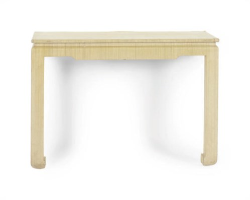 A RAFFIA-WRAPPED CONSOLE TABLE