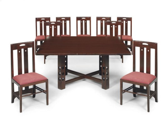 AN OAK DINING SUITE,