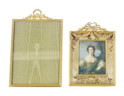 TWO GILT-METAL FRAMES,