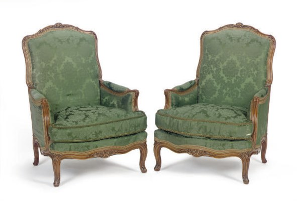 A PAIR OF FRENCH BEECHWOOD AND