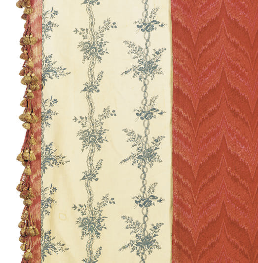 A GROUP OF RED WOOL CURTAINS A