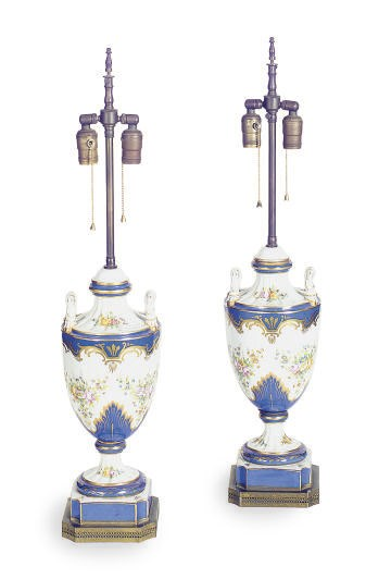 A PAIR OF FRENCH PORCELAIN COV