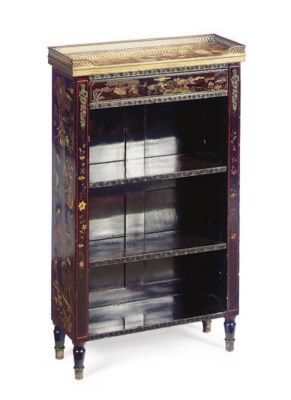 A FRENCH 'JAPANNED' MARBLE-TOP