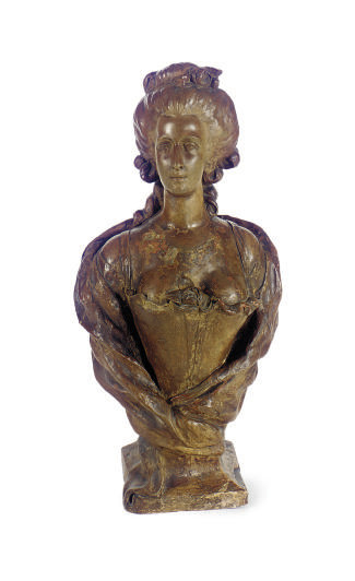 A TERRACOTTA BUST OF MARIE ANT