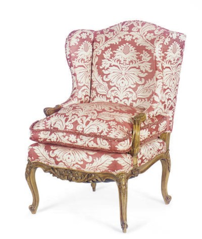 A FRENCH BEECHWOOD AND UPHOLST
