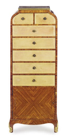 A FRENCH KINGWOOD, ROSEWOOD AN