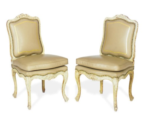 A PAIR OF REGENCE PAINTED SIDE