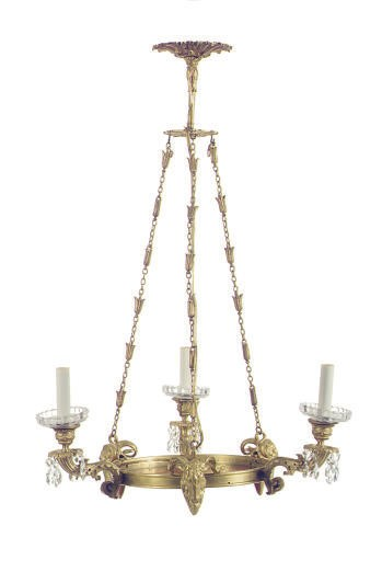 A FRENCH ORMOLU CUT-GLASS AND