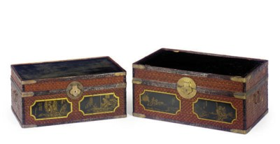 TWO JAPANESE GILT-DECORATED LA