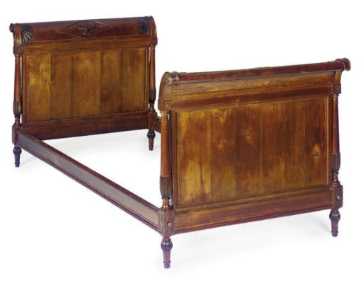 A FRENCH MAHOGANY DAYBED,
