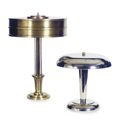 A BRASS TABLE LAMP,