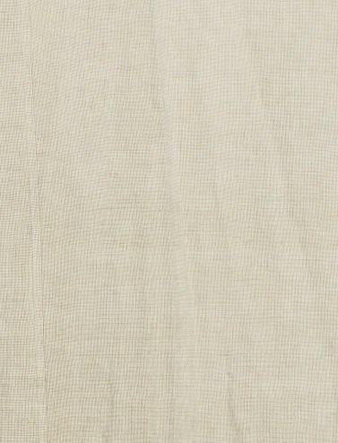 TWO OATMEAL-TEXTURED LINEN CUR