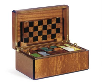 A WALNUT AND EBONY GAMES COMPE
