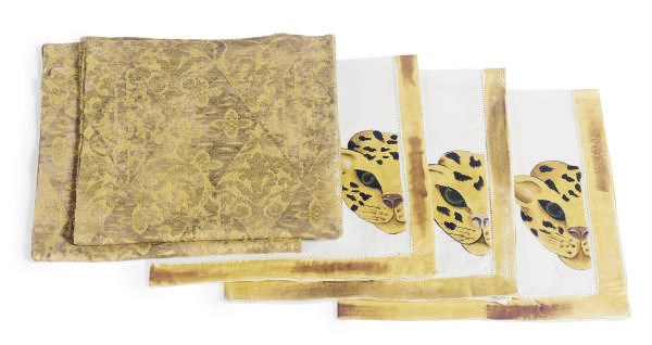 A GROUP OF TABLE LINENS,