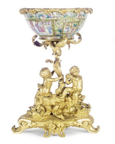 AN ORMOLU-MOUNTED CHINESE EXPO