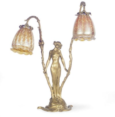 A FRENCH GILT-BRONZE AND GLASS