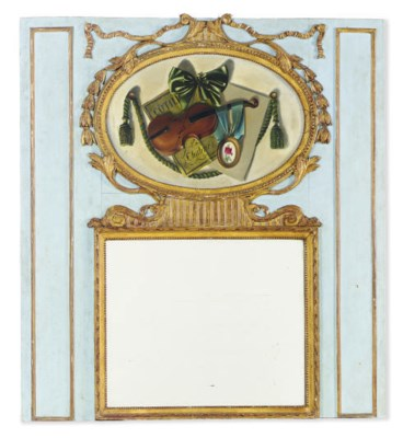 A PAINTED AND PARCEL-GILT TRUM