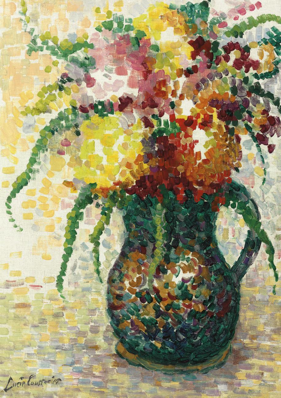 Fleurs dans un pichet