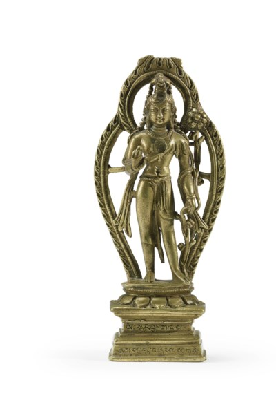 A brass figure of Padmapani
