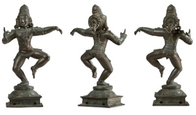 A bronze figure of Sambandar