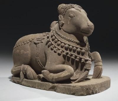 A sandstone figure of Nandi