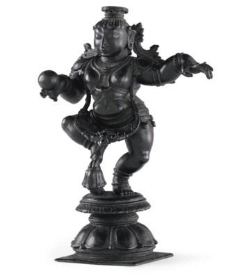 A bronze figure of dancing Kri