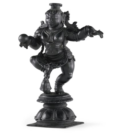 A bronze figure of dancing Kri
