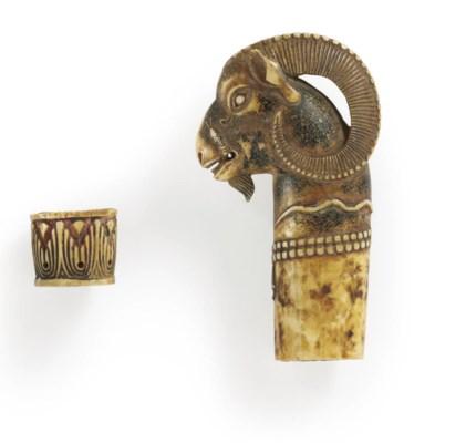 An ivory dagger handle